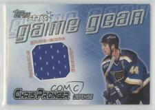 2000-01 Topps Stars Game Gear #GG-CP Chris Pronger St. Louis Blues Hockey Card