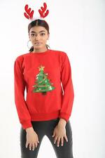 New Women's ladies Ugly Christmas Jumper with Christmas Tree Size S-XL