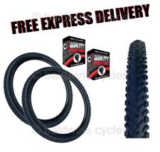 """CLEARANCE PAIR CHEAP Mountain Bike / MTB OFF ROAD TYRES AND TUBES 26"""" x 1.95"""