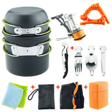 Portable Gas Camping Stove Burner Outdoor Hiking Picnic Cooking Cookware Set