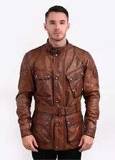 Belstaff Replica The Panther Hand Waxed Leather Jacket - Cognac - No Tags at all
