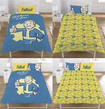Fallout Vault Boy Panel Printed Retro Duvet Bedding Cover Set With Pillow Cases