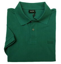 Hugo Boss Polo Uomo Ferno Regular Fit Verde Scuro 100% Cotone con Logo