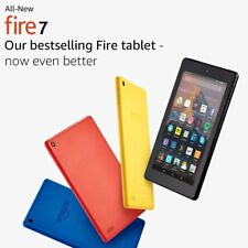 Brand New Kindle Fire 7 16GB Tablet with Alexa -Black / Blue / Red