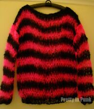 PUNK MOHAIR JUMPER black pink, UK hand knit, seditionaries barbie zombie horror