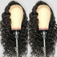 360 Lace Frontal Wig Brazilian Virgin Human Hair Wigs With Baby Hair Around 1B