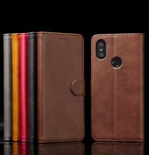 For Xiaomi Mi A1 A2 Lite Magnetic Flip Leather Wallet Case Card Stand Cover B