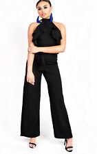 IKRUSH Womens Courts Flared Wide Leg Halterneck Jumpsuit