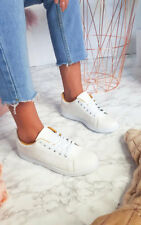 IKRUSH Womens Ashley Faux Leather Trainers