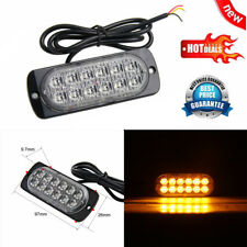LED Car Warning Light Emergency Light Bulb Amber Flashing Strobe Beacon 12V-24V