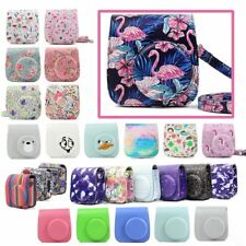 Fujifilm Instax Mini Camera Case Quality PU Leather Shoulder Bag with Strap for