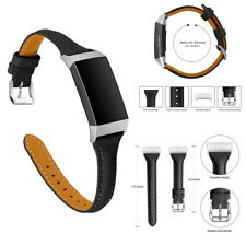 Replacement Genuine Leather Watch Band Strap Bracelet For Fitbit Charge 3