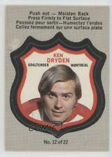 1972-73 O-Pee-Chee Player's Crests #12 Ken Dryden Montreal Canadiens Hockey Card