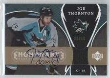2007 Upper Deck Trilogy Honorary Scripted Swatches #SS-JT Joe Thornton Auto Card