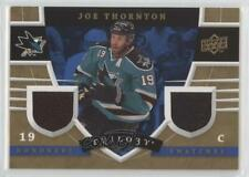 2008-09 Upper Deck Trilogy Honorary Swatches #HS-JT Joe Thornton San Jose Sharks