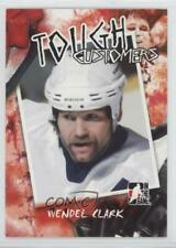 2005-06 In the Game Enforcers Tough Customers #TC-WC Wendel Clark Hockey Card