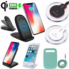 Qi Wireless Charger Pad Charging Dock for iPhone X8  Galaxy Note S8 S7 S6 Edge