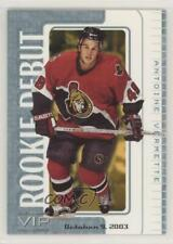 2003-04 In the Game VIP Rookie Debut #12 Antoine Vermette Ottawa Senators Card