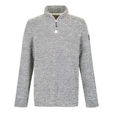 NEW | Weird Fish Galvin 1/4 Zip Active Macaroni Sweatshirt Ecru Grey