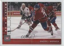 2001-02 In the Game Be A Player Memorabilia Ruby #52 Andrei Markov Hockey Card