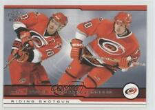2001-02 Pacific #406 Ron Francis Darren Langdon Carolina Hurricanes Hockey Card