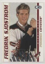 2003-04 Pacific Heads Up 129 Fredrik Sjostrom Phoenix Coyotes Rookie Hockey Card