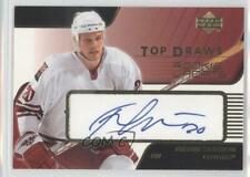 2003 Upper Deck Rookie Update Top Draws #TD-20 Fredrik Sjostrom Auto Hockey Card