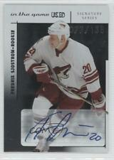2003 In the Game-Used Signature Series 137 Fredrik Sjostrom Phoenix Coyotes Auto