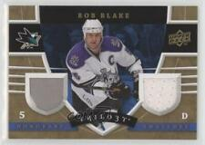 2008 Upper Deck Trilogy Honorary Swatches #HS-RB Rob Blake San Jose Sharks Card