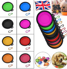 Travel Pet Dog Cat Collapsible Feeding Bowl Portable Silicone Water Dish Camping