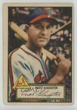 1952 Topps #65.1 Enos Slaughter (Red Back) St. Louis Cardinals Baseball Card