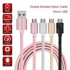 For Verizon Wireless Ellipsis 8 - Double Braided Nylon Micro USB Cable Charger