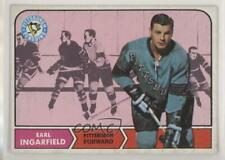 1968-69 Topps #102 Earl Ingarfield Pittsburgh Penguins Hockey Card