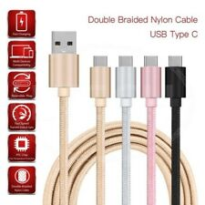 Para Nokia 7 Plus - Doble Nailon Trenzado Usb-C Cargar & Cable Datos (4 Colours)
