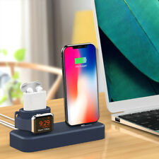 Charging Stand Station Holder Dock for iPhone for Apple Watch for Airpods 3in1
