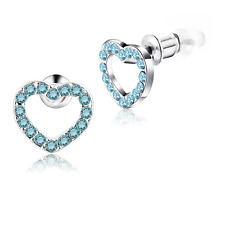 Buyless Fashion Girls Heart Stud Earrings Surgical Stainless Steel