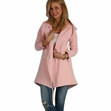 Trench Coat Spring Loose Jumpers Long Hooded Fashion Slim Women Cardigan Casual