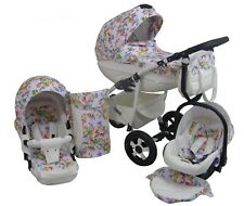 Baby CLEO II Travel System 3in1 HARD CARRYCOT PRAM PUSHCHAIR CAR SEAT Rain Cover