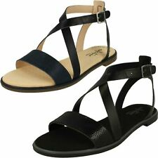 1a798e4d3 Ladies Clarks Ultimate Comfort Buckled Leather Strappy Sandals Bay Rosie