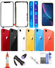 iPhone Xr Front Screen Glass Lens Replacement & Back Glass Complete Kit