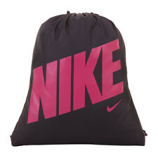 b5cb36c1e1 Nike YA School Gym Sack Gym Sac Kids Shoulder Drawstring Bag- Black   Deep  Pink
