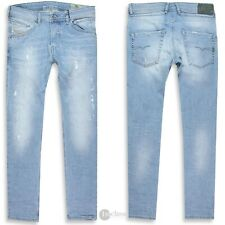 DIESEL Herren Jeans | Belther ( Regular-Slim-Tapered ) light blue distressed