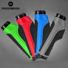 ROCKBROS New Double Lock Bicycle Grips MTB Road Bike Anti-skid Rubber Handlebar