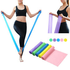 New 1.5m Elastic Yoga Pilates Rubber Stretch Resistance Exercise Fitness Belt BA