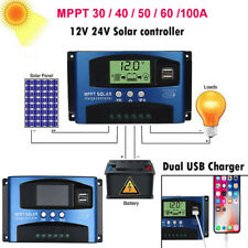 30A100A MPPT Solar Panel Regulator Charge Controller 12V/24V Auto Focus Tracking