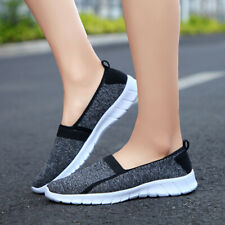 Womens Comfortable Walking Shoes Casual Slip On Performance Sneakers Plus Size