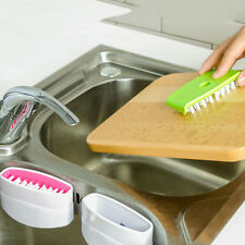 Home Kitchen Sink Spoon Cutlery Cleaners Easy Clean Dish Washing Sponge Brush