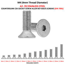 """Csk Socket Screws x2 1//2 x 2 UNC Countersunk Stainless Steel 1//2-13tpi x 2/"""""""