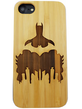 Batman DC Natural Carved Wooden Phone Case for IPHONE SAMSUNG HUAWEI PIXEL