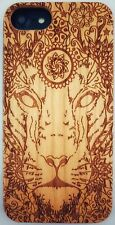 Aztec Lion Natural Carved Wooden Phone Case for IPHONE SAMSUNG HUAWEI PIXEL